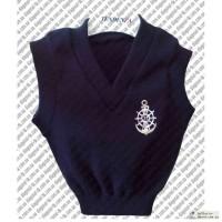 Трикотажные изделия жилетки и свитера для школьников. Спецодежда