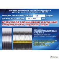 Воздуховоды алюминиевые эластичные (гофрированные)