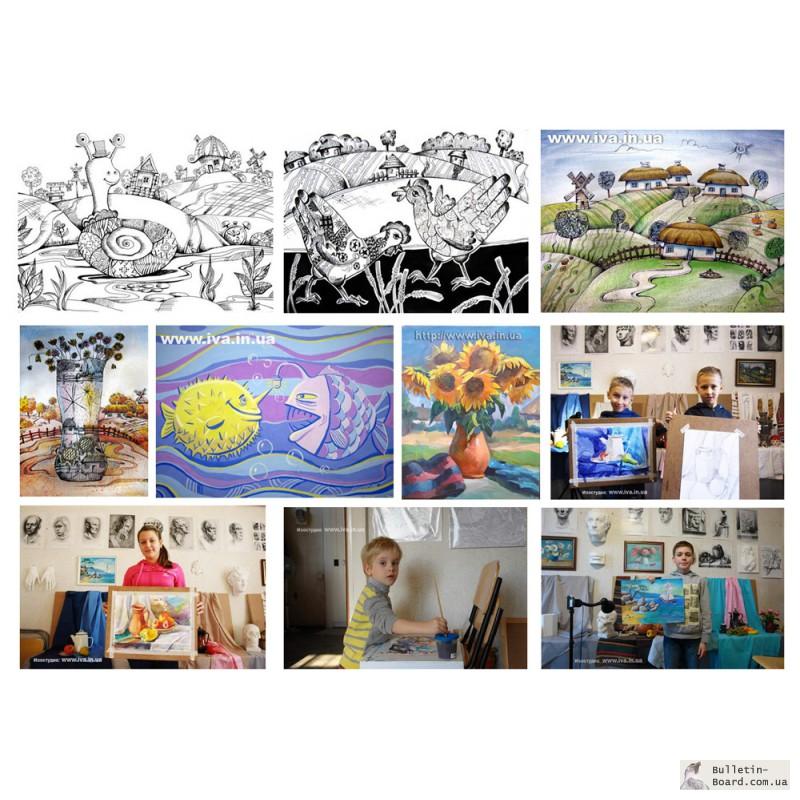 Фото 2. Обучение рисованию детей в мини-группах