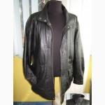 Тёплая большая кожаная мужская куртка CA. Лот 288