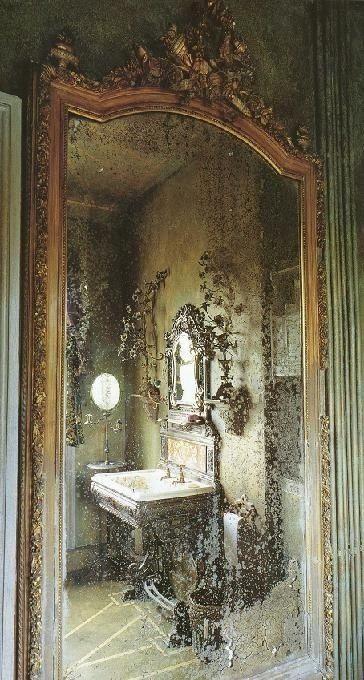Фото 16. Состаренные зеркала. Золотые состаренные зеркала. Зеркала с эффектом старения