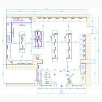 Проектирование торгового зала, расстановка оборудования магазинов