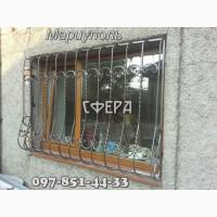 Решетки на окна. Металлические кованые оконные решетки. Мариуполь