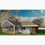 Проект Шале- каркасный канадский дом из сип панелей Харьков