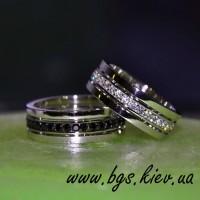 Обручальные кольца с черными бриллиантами