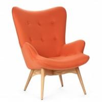 Крісло Флорино, м#039;яке, дерево бук, колір зелений, помаранчевий, коричневий