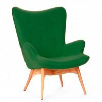 Кресло Флорино, мягкое, дерево бук, цвет зеленый, синий