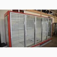 Горка холодильная выносной холод б/у Регал Linde 4 м. Шкаф холодильный для напитков
