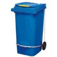 Бак для мусора з педалью 240л. Синий. 240A-11P2BL