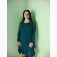 Платья фиолетовые и бирюзовые трикотажные(48, 50, 52 размеры)