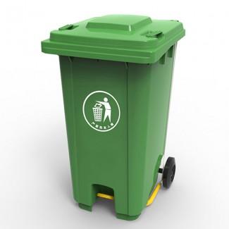 Бак для мусора з пластиковой педалью 240л., зеленый. 240U-19G