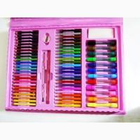 Набор для рисования чемодан 208 предметов Цвет розовый