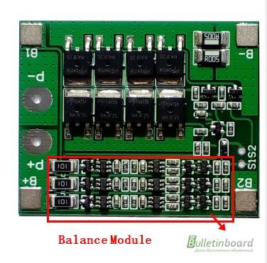 Фото 2. BMS 3S 25-40А, 12.6V Контроллер заряда разряда с балансиром, плата защиты Li-Ion