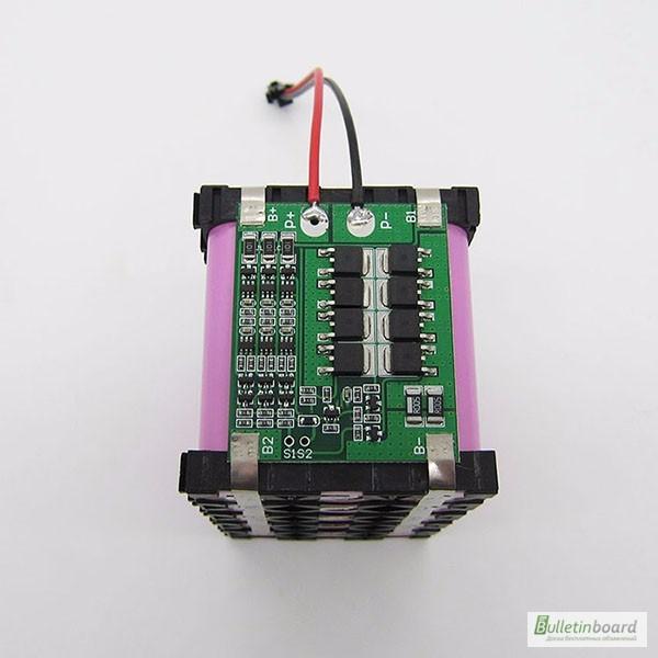 Фото 3. BMS 3S 25-40А, 12.6V Контроллер заряда разряда с балансиром, плата защиты Li-Ion