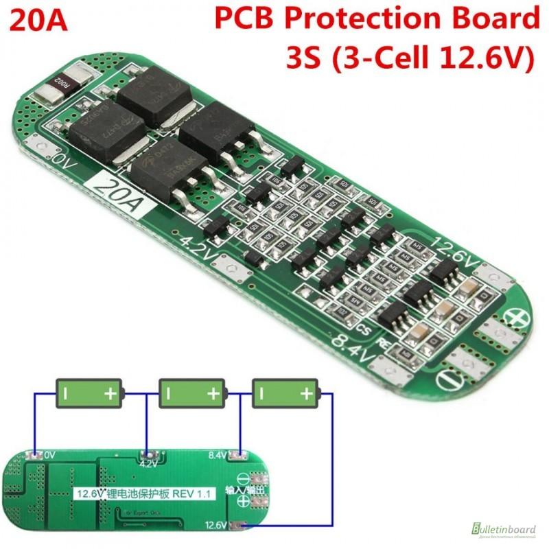 Фото 7. BMS 3S 25-40А, 12.6V Контроллер заряда разряда с балансиром, плата защиты Li-Ion