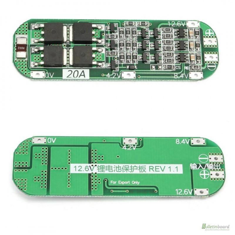 Фото 8. BMS 3S 25-40А, 12.6V Контроллер заряда разряда с балансиром, плата защиты Li-Ion
