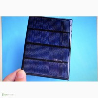 Солнечная поликристаллическая панель 12 В 100 мA 1.5 Вт + Диод