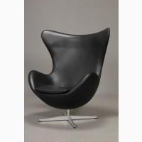 Кресло яйцо Эгг (Egg), мягкое, кожа, ткань цвет черный, красный, коричневый