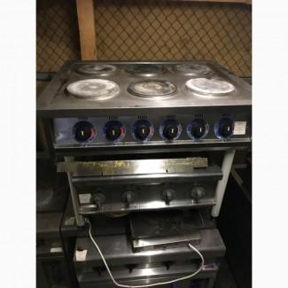 Продам бу промышленную плиту на 6 конфорок КИЙ-В ПЕ-6КР