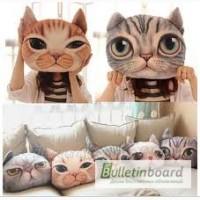 Прикольные подушки 3D кошкой. Милый подарок девушке