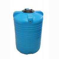Емкость вертикальная на 1000 литров пищевая бочка пластиковая, бак для воды