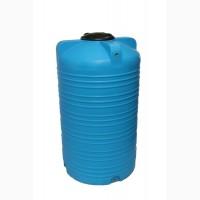 Емкость вертикальная на 2000 литров, пищевая бочка пластиковая, бак для воды