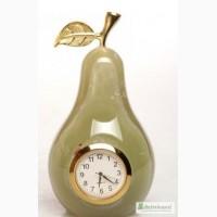 Часы Груша из оникса 10см