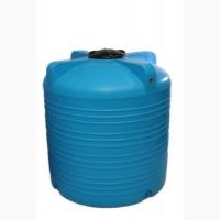 Емкость вертикальная на 3000 литров, пищевая бочка пластиковая, бак для воды