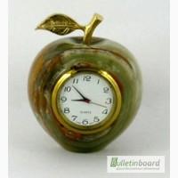 Часы Яблоко из оникса 6, 5см