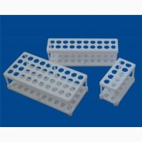 Штативы лабораторные, для пробирок, пластиковые на 10, 20, и 40 гнезд