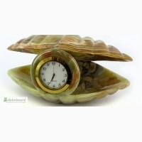 Часы Ракушка из оникса 5см