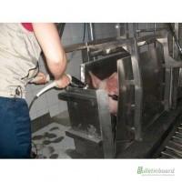 Бокс для глушения свиней пневматический