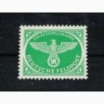 Почтовая марка. Deutsches Reich. Feldpost Zulassungsmarke. 1944г. MI 4