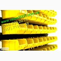 Стеллаж с цветными ящиками под метизы (болты, гайки, шпильки)