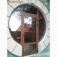 Окна и двери из тёплого алюминия. Покраска в цвет