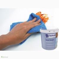 Краска моющаяся ISAVAL Изаклин 1л белая и тонированная -стойкая к многократному мытью стен