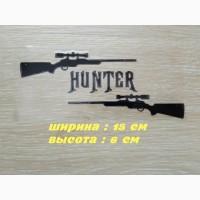 Наклейка на авто Охотник Чёрная