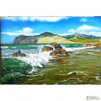 Картина Коктебель холст, масло, 60х90 см