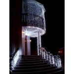 Новогоднее украшение деревьев. Новогодняя подсветка.Гирлянда уличная бахрома.
