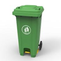 Бак для мусора з педалью 120л., зеленый 120U-14G