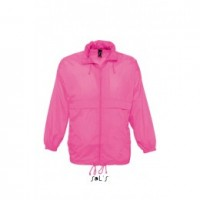 Ветровка унисекс розовая непромокаемая SOL'S SURF под заказ