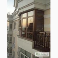 Монтаж деревянных окон и балконов