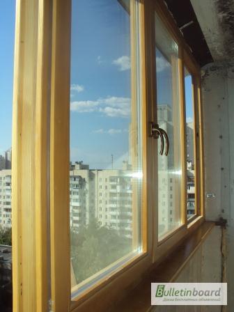 Фото к объявлению: монтаж деревянных окон и балконов - bulle.