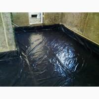 Плёнка строительная чёрная 200 мкм (3 м х 50 м.п.)