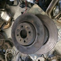 Б/у передний тормозной диск Renault Scenic 1, Рено Сценик 1, РАЗБОРКА