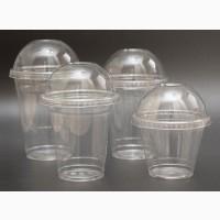 Купольный стакан с крышкой 500 400 300 200мл одноразовый для напитков ягод бокал стаканчик