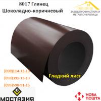 Гладкий лист с полимерным покрытием RAL 8017 глянец 0, 45мм