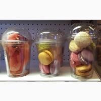 Купольный стакан с крышкой 500 400 300 200мл одноразовый бокал стаканчик для напитков ягод