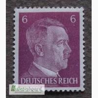 Почтовая марка. Adolf Hitler. Deutsches Reich. 6 pf. 1941г. MNH. SC 777