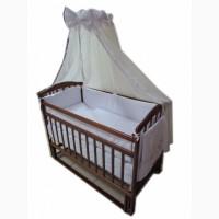 Акция! Комплект для сна. кроватка маятник + матрас+постель 8 эл. NeW